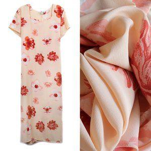 Jonathan Logan Peach Floral Dress Plus 3X